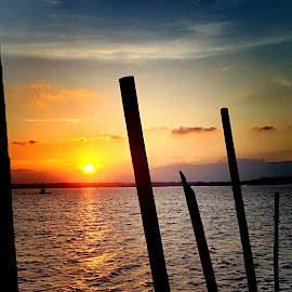 Sun going down by Janette Ho - Instagram & Mobile iPhone