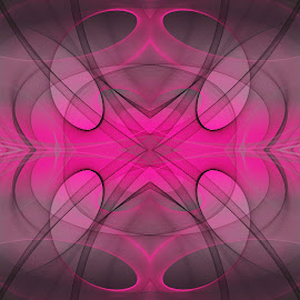 Arty Abstract by Kris Pate - Illustration Abstract & Patterns ( abstract, creation, pretty in pink collection, art, illustration, pink, collection, create, design, black, photoshop )