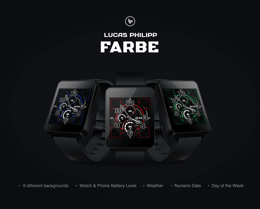 Farbe watchface by LucasPhilip Screenshot 2