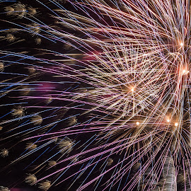 6 Shells by Mike Watts - Abstract Fire & Fireworks ( nc, fireworks, 4th july, belmont )