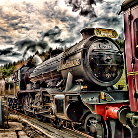 The Great Marquess by Dez Green - Transportation Trains ( hdr, vintage, railroads, steam train, railways, train, steam,  )
