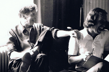 With Michael Tippett, during recordings of Piano Sonatas, Brent Town Hall, 1973 (obviously enjoying ourselves) (2)