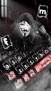 Fake Anonymous Mask Keyboard Theme for pc