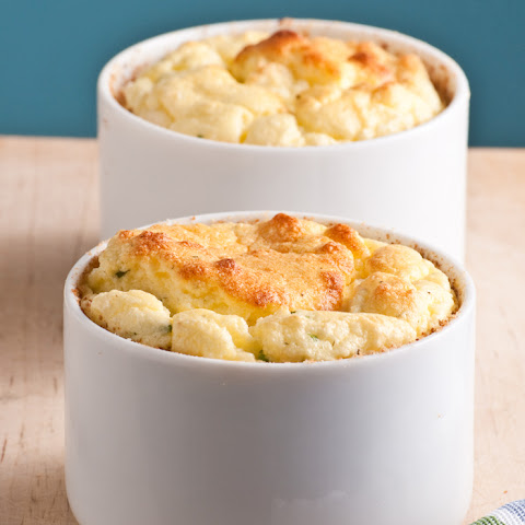 Feb 8 Twice Baked Goat Cheese Souffle