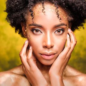 The Look by Chuck Mason - People Portraits of Women ( studio, black woman, closeup, portrait, eyes,  )