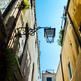Lamp  by Ivana Kreko - Landscapes Travel ( building, grass, lamp, venice, summer, italy )