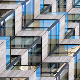 Relentless Geometric by Eric Yiskis - Abstract Patterns ( abstract, california, windows, architectural detail, san francisco, balcony )