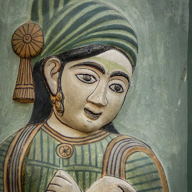 Portrait of a Woman by Karin Wollina - Artistic Objects Antiques ( jaipur, rajasthan, india, antique, portrait,  )