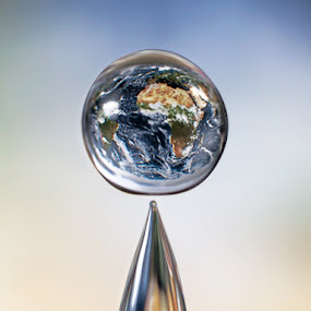The world in a water drop by Gustavo Cabral - Abstract Water Drops & Splashes