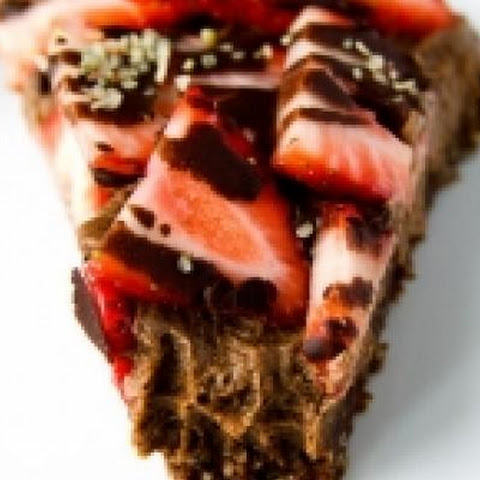 Chocolate Strawberry Vegan Cheesecake