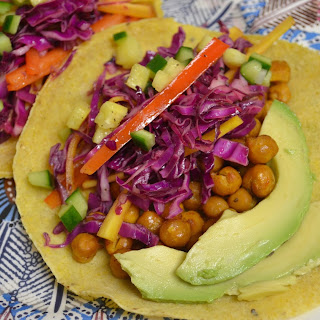 Crispy Chickpea Tacos With Cabbage Slaw