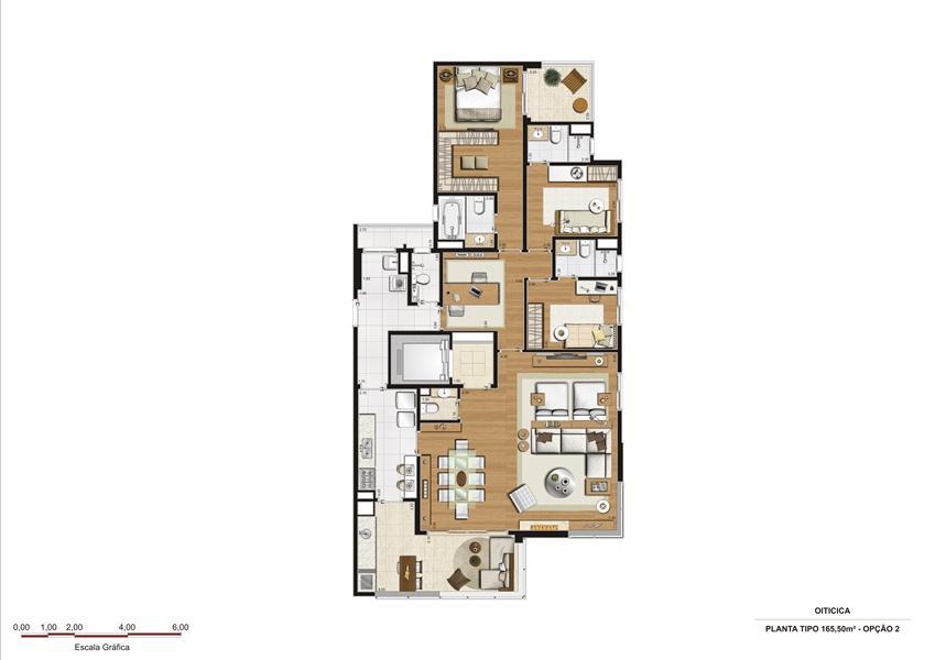 Planta Opção 2 - 165 m²