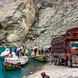 Silk Road by Muhammad Awais - Transportation Automobiles ( atta-abad lake )