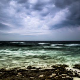 before the storm by Nenad Bartolović - Landscapes Beaches ( clouds, istria, croatia, sea, sunrise, storm )