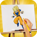 Do you have difficulty drawing Dragon Ball Z? This free application will helps you learn how to draw Goku and other Dragon APK Icon
