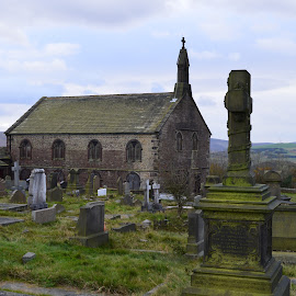 The Churchyard by Mike Owen - Novices Only Landscapes ( wuthering heights, churchyard, gravestones, historic district, architecture )