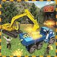 Gold Excavator Crane Driver 3D