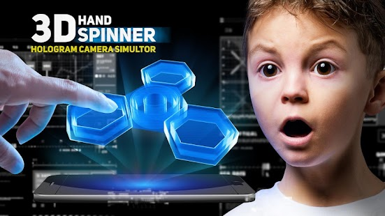 Hand spinner hologram camera for pc