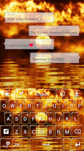 Fire Sunset Keyboard - screenshot