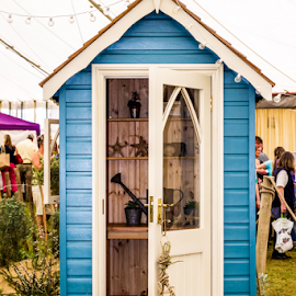 Garden Shed by Wendy Richards - Buildings & Architecture Homes ( tiny, shed, tools, blue, garden,  )