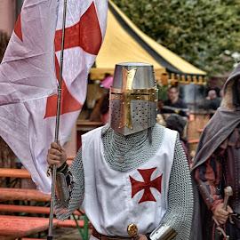 Knights by Marco Bertamé - People Street & Candids ( red, metal, helmet, medieval, knight )