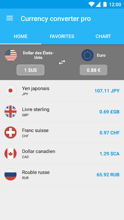 Currency Converter Pro Screenshot
