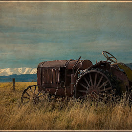 Lauderdale Tractor by Bren Dyer - Transportation Other ( arty, otago, nz, lauderdale, tractor )