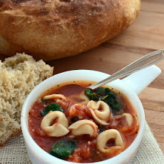 Quick and Easy Tortellini Soup with Spinach