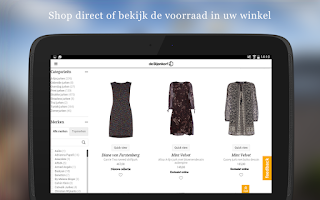 Screenshot of de Bijenkorf Android App
