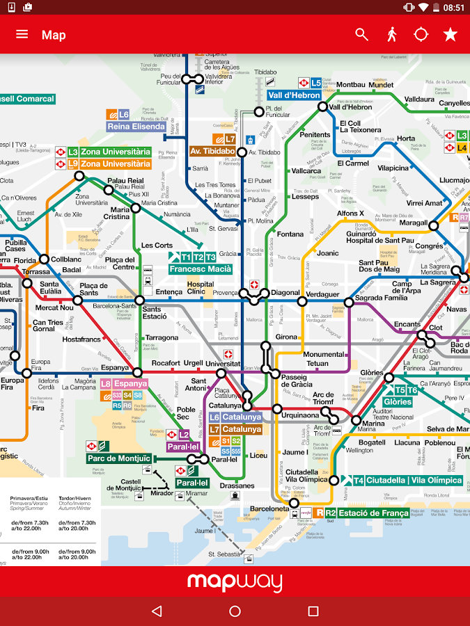 Barcelona Metro - TMB map and route planner - Android Apps on ...