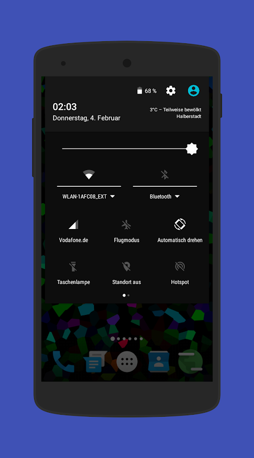 Amoledar CM13/12 Theme Screenshot 2