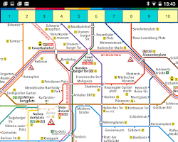 Screenshot of Berlin Subway Tram Map