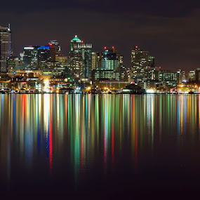 Seattle skyline by Peter Cheung - City,  Street & Park  Skylines