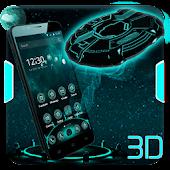 3D Neon Spaceship Theme APK for Blackberry