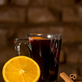 Mulled red wine with cinnamon and orange by Iulian Cahul - Food & Drink Alcohol & Drinks ( wine, orange, cinnamon )