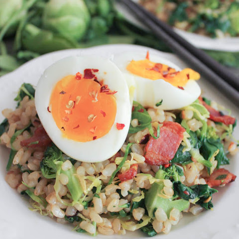 Bacon Fried Rice with Broccoli and Wilted Greens