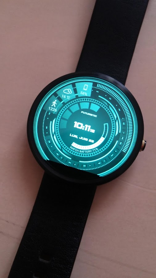 Futuristic GUI Watch Face Screenshot 6
