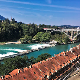 by Phil Bear - City,  Street & Park  Vistas ( bern, dam, city, switzerland, river, europe )