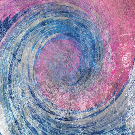 Ocean Love by Florentina  Arvanitaki - Illustration Abstract & Patterns ( waves, digital paint, pink, ocean, blue, ocean love, sea )