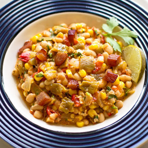 Navy Beans, Green Chile and Corn