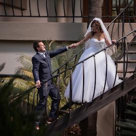 Stairs by Lood Goosen (LWG Photo) - Wedding Bride & Groom ( wedding photography, wedding photographers, wedding day, weddings, wedding, brides, staris, wedding photographer, bride and groom, bride, groom, bride groom )