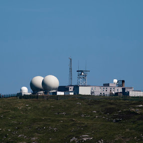 Rueval missile tracking station by Thomas Cochrane - Products & Objects Technology Objects ( tracking, station, radom, south uist, range. radar, missle )
