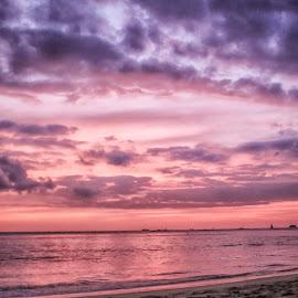 Shot as Seen by Deb Bulger - Landscapes Beaches ( pinkandpurple, sunset, beach, hawaii )