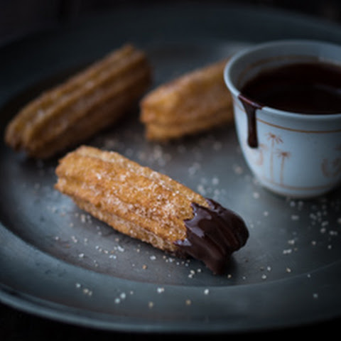 Churros with Chocolate Chili Sauce