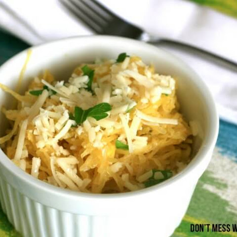 Spaghetti Squash with Browned Butter Sauce and Parmesan Cheese