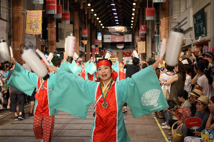 第61回よさこい祭り☆本祭2日目・はりまや橋競演場24☆上1目1437