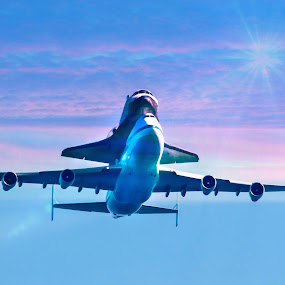 Endevours Final Journey by Susan Foss - Transportation Other ( flight, shuttle, space, endeavour )