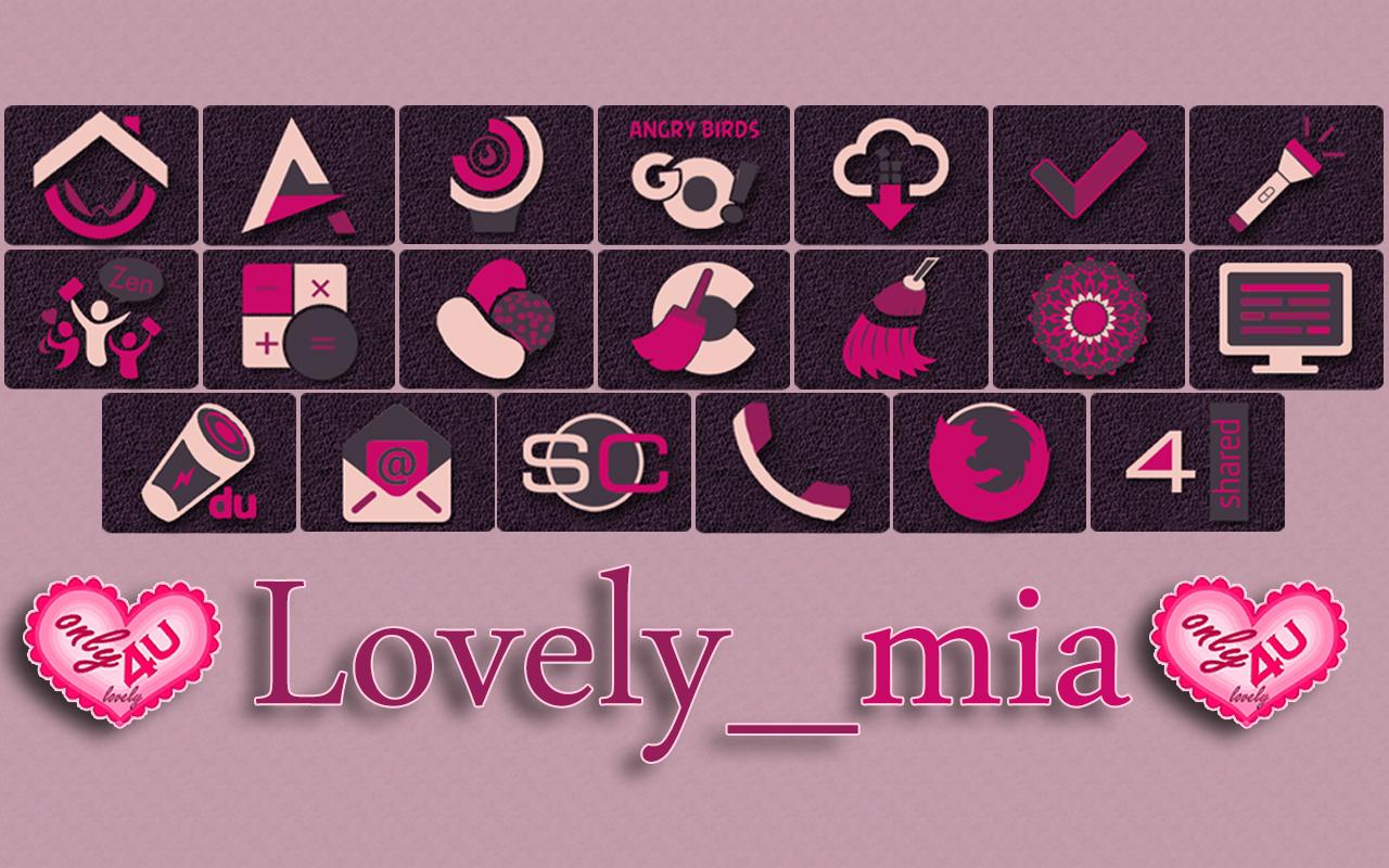 lovely_mia - icon pack Screenshot 7
