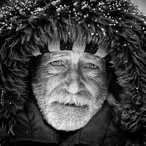 The sled driver by Claudiu Guraliuc - People Portraits of Men ( old, sad, senior citizen, people, portrait, eyes )
