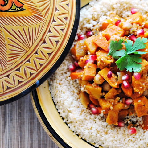 Butternut Squash, Sweet Potato, and Chickpea Tagine with Couscous